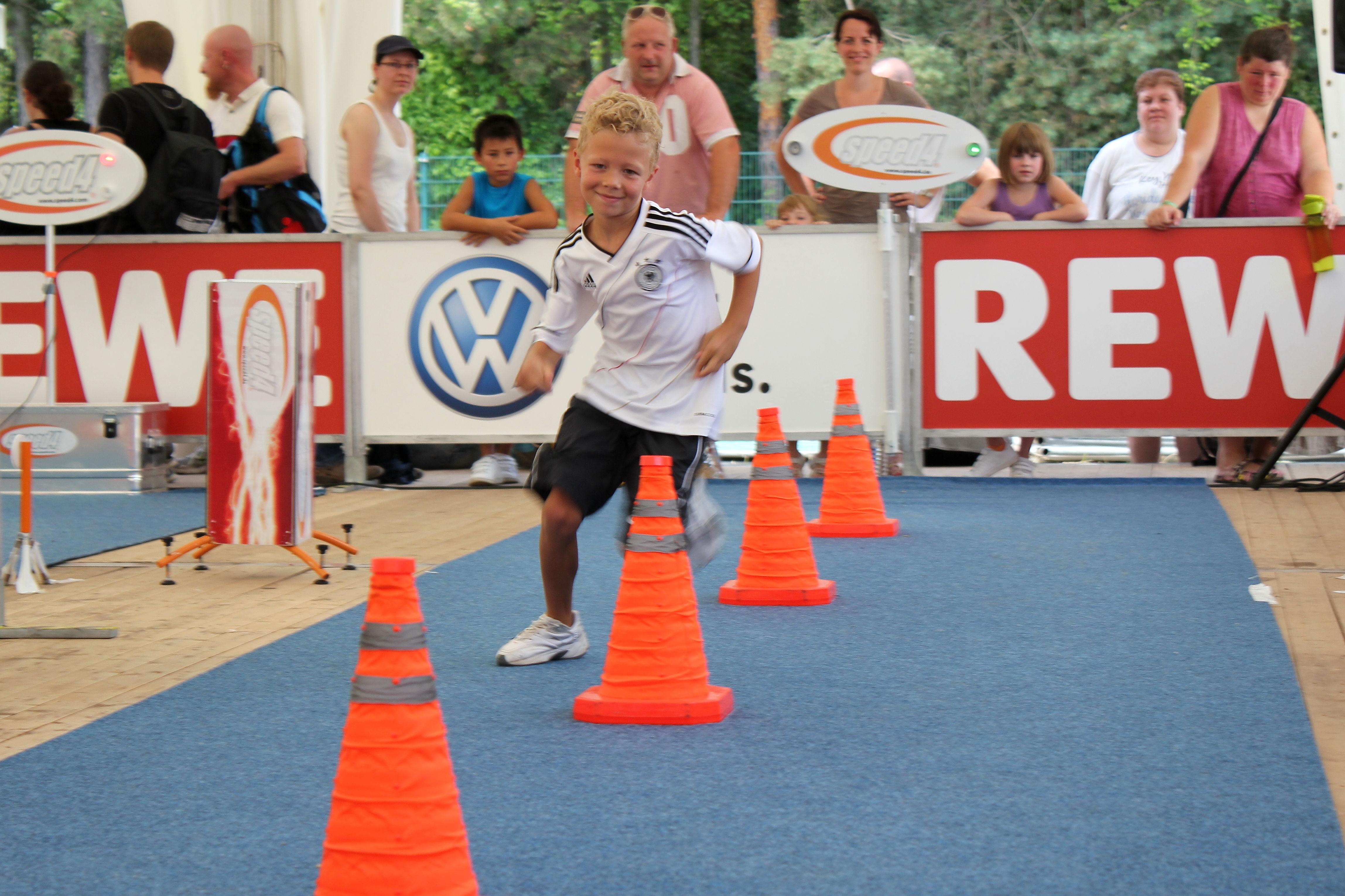 Kind beim Speed4-Lauf